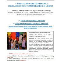 CAMPANIE DE CONȘTIENTIZARE A PROBLEMELOR DE COMPORTAMENT ȘI LIMBAJ